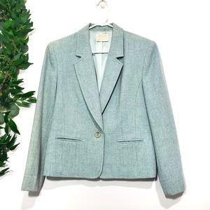 Pendleton Vintage Blue Virgin Wool Blazer size 10